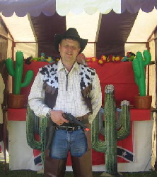 Wild West Shooting gallery hire Midlands